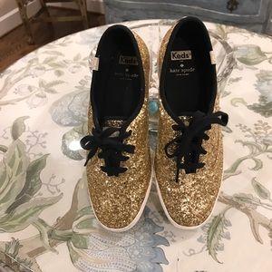 Kate Spade Gold Glitter Sneakers